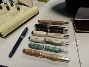 A few of Carl's handmade kit pens